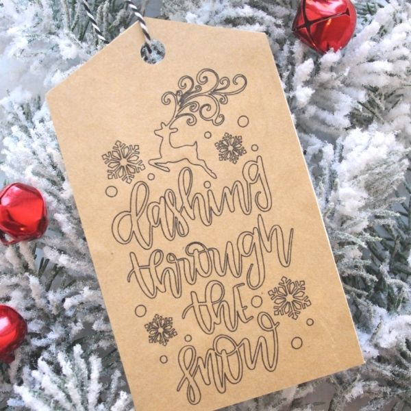 Christmas gift tags with Silhouette sketch pens