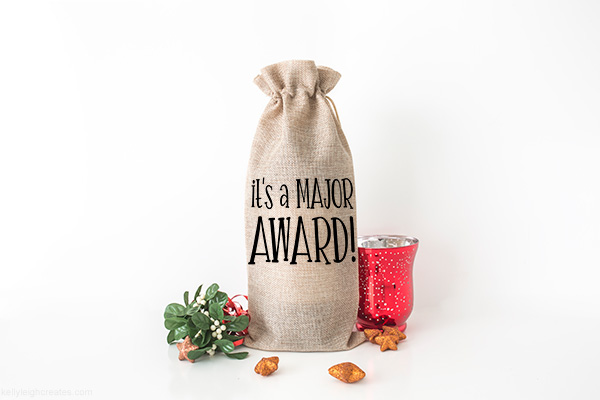 christmas story wine bag