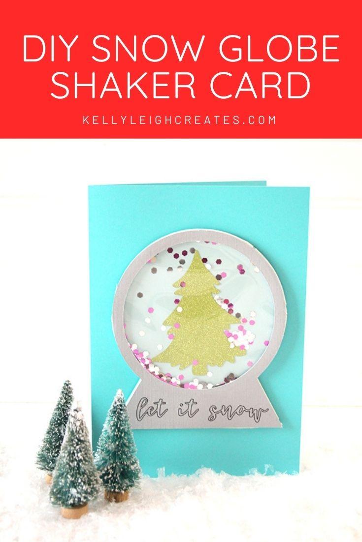snow globe shaker card