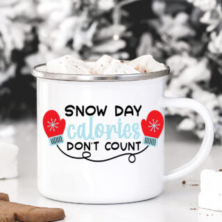 snow day svg file on mug