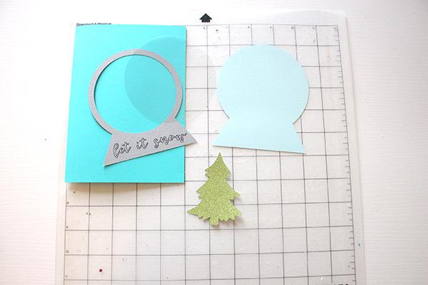 snow globe shaker card supplies