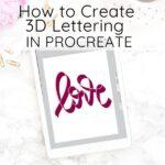 lettering in procreate