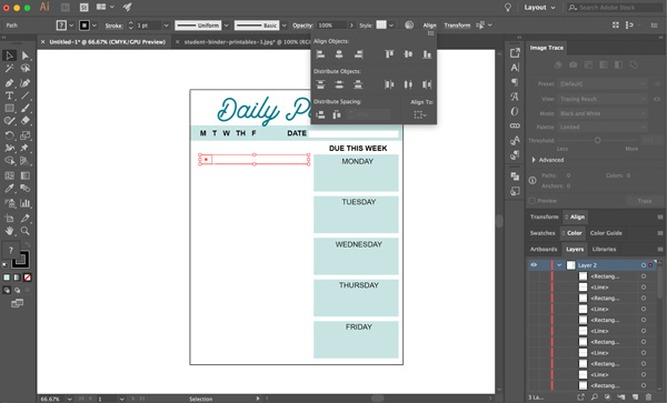 create printables in illustrator