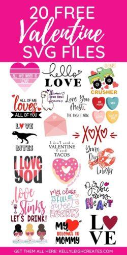 valentine svg files