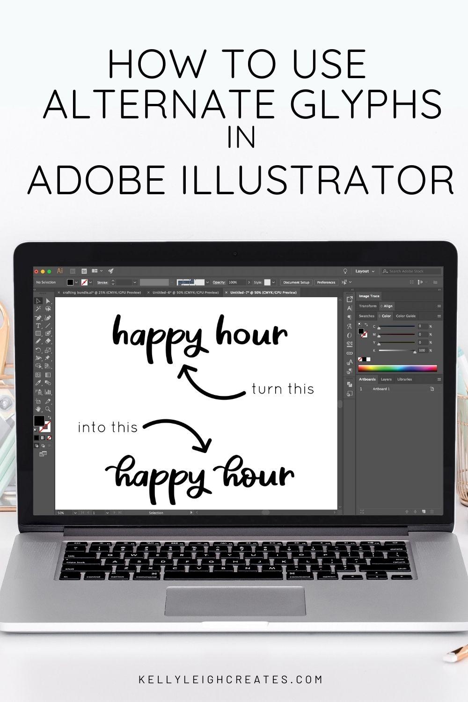 how to use alternate glyphs in Illustrator