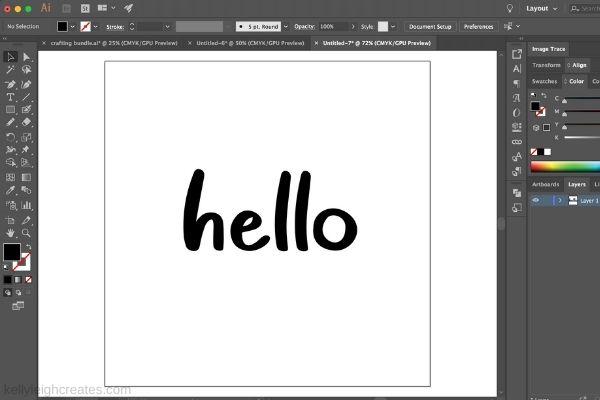 illustrator screen