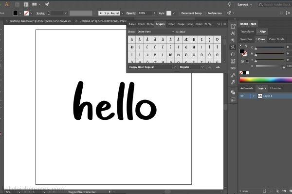 glyphs in illustrator