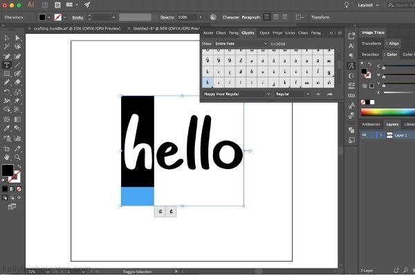 alteranate glyphs in Illustrator