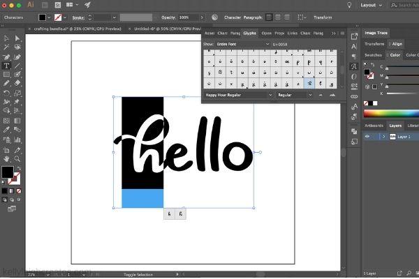 changing glyphs in Adobe Illustrator