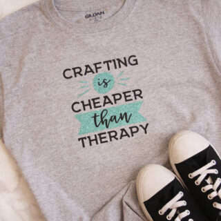 glitter heat transfer vinyl on shirt