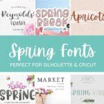 spring fonts
