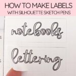 labels with silhouette sketch pens