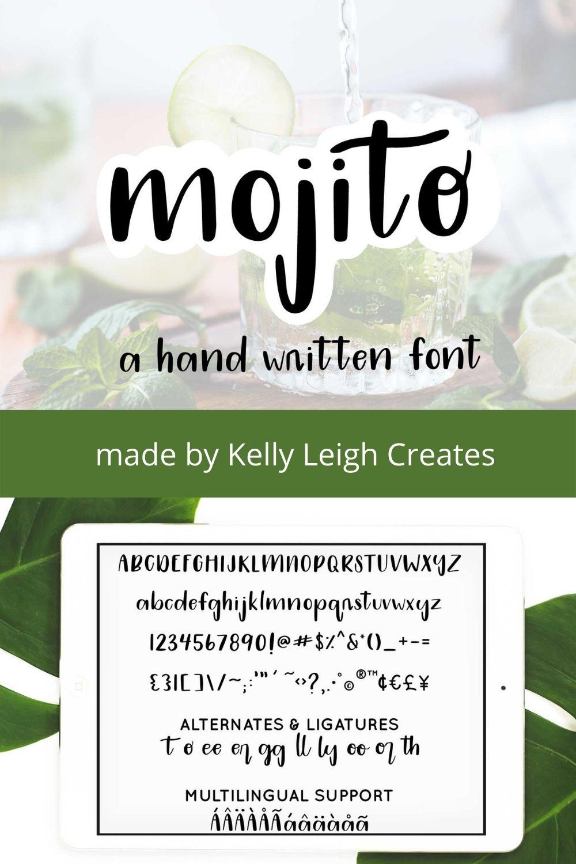 Mojito handwritten font