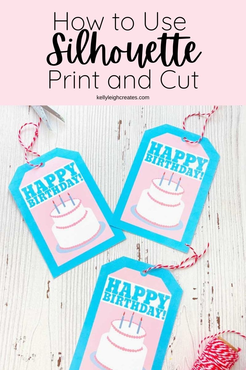 gift tags made with silhouette print and cut