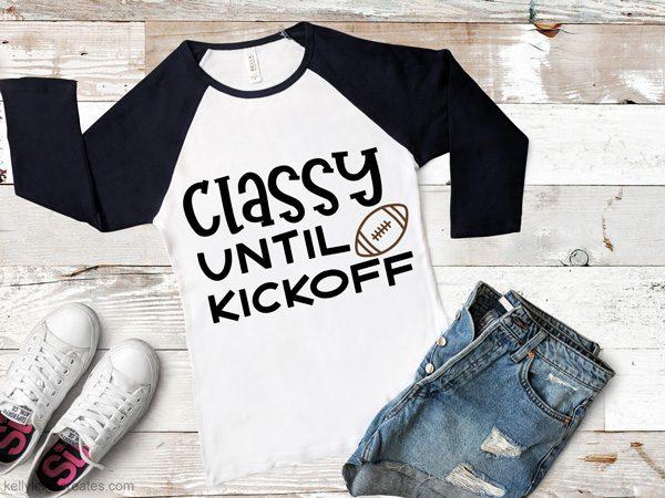 football svg on long sleeve t shirt