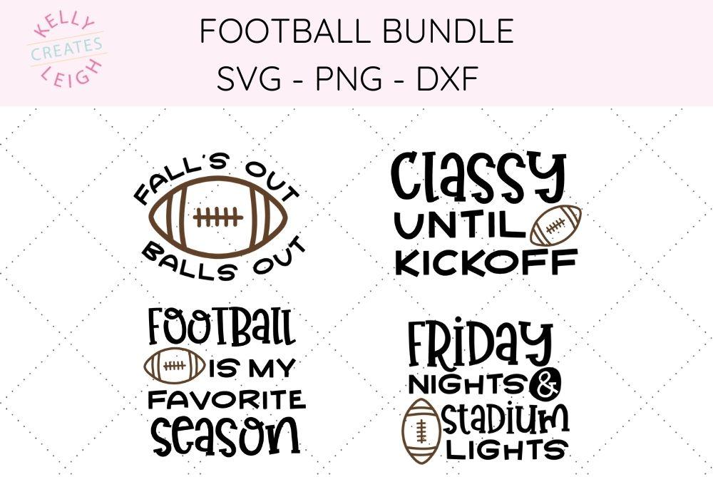 football bundle SVG files
